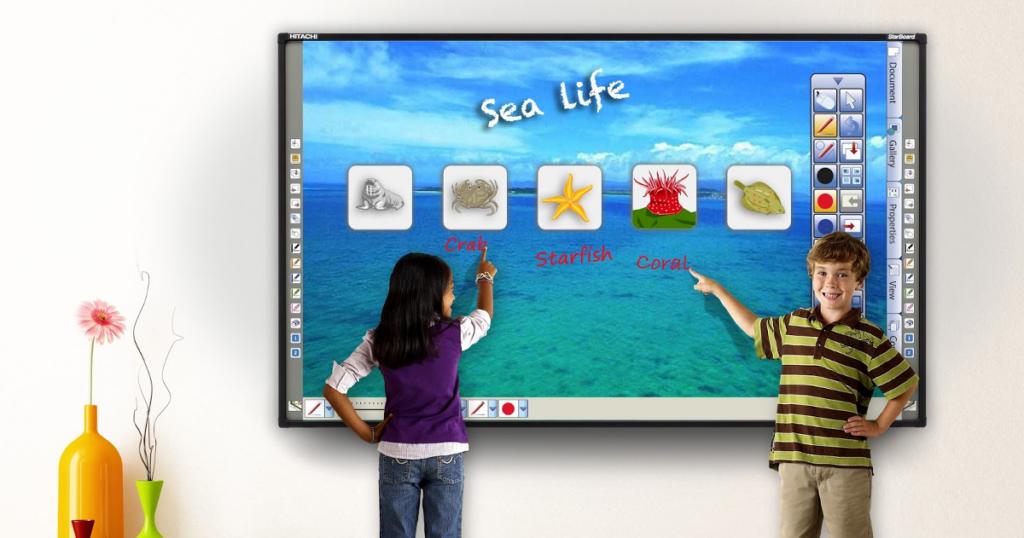 Діти біля інтерактивної дошки