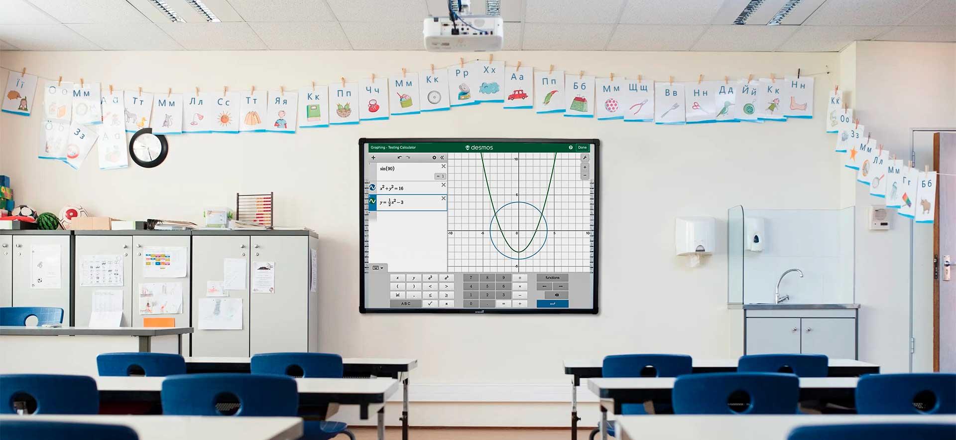 доска в классе интерактивная